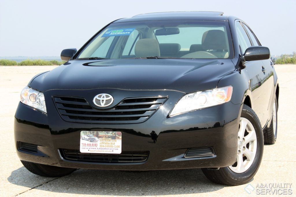 2008 toyota camry le sunroof bluetooth cd changer alloy wheels black brooklyn ny 11999. Black Bedroom Furniture Sets. Home Design Ideas